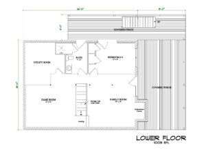 Chestnut Grove Cabin Floor Plan